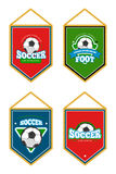 Soccer club pennants set with logo templates Stock Images