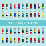 Soccer Club Team Players Big Set. Football club Soccer Players silhouettes. Computer game Soccer team players big set. Sports infographic. Digital background Royalty Free Stock Photo