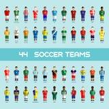 Soccer Club Team Players Big Set Royalty Free Stock Photo