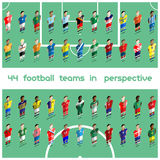 Soccer Club Team Players Big Set Royalty Free Stock Image