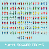 Soccer Club Team Players Big Set Royalty Free Stock Photography