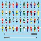 Soccer Club Team Players Big Set Stock Image