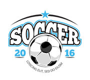 Soccer club vector logo template Royalty Free Stock Photography