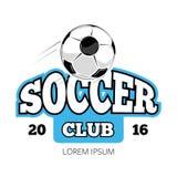 Soccer club vector logo template  white Stock Photo