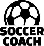 Soccer coach with ball Stock Photography
