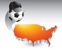Soccer coach over united states icon royalty free illustration