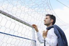 Soccer coach royalty free stock photo
