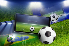 Soccer collage Royalty Free Stock Photography