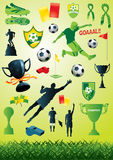 Soccer Collection 2. Vector collection of many soccer and football designs Royalty Free Stock Photos