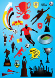 Soccer Collection 3. Vector collection of many soccer and football designs Royalty Free Stock Images