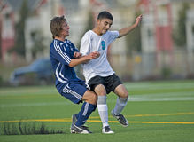 Soccer collision 4 royalty free stock photo