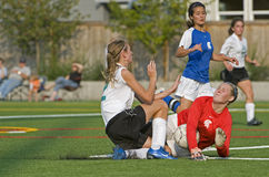 Soccer collision Royalty Free Stock Photography