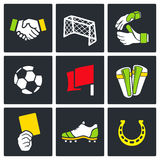 Soccer  color icon collection Royalty Free Stock Images