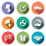 Soccer  color icon collection Stock Photo