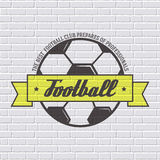 Soccer color logo or label template  with blurred Stock Image