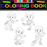 Soccer coloring book. Illustration of soccer coloring book Royalty Free Stock Images