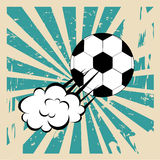 Soccer comic Royalty Free Stock Photo