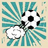 Soccer comic Royalty Free Stock Photo