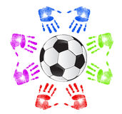 Soccer community concept Stock Photos