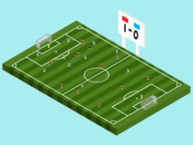 Soccer Competition Isometric Royalty Free Stock Photo