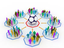 Soccer concept. Multiple people loving soccer sport Vector Illustration