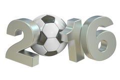 Soccer 2016 concept. 3D rendering Stock Photos