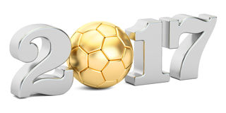 Soccer 2017 concept. 3D rendering Royalty Free Stock Photography