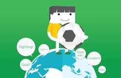 Soccer concept flat character design Stock Photos