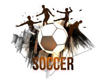 Soccer concept with players. Soccer concept with players in playing action Stock Photo