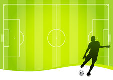 Soccer concept (vector). Vector soccer player and football playground vector illustration
