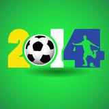 Soccer concept. For 2014 world cup in bazile Royalty Free Stock Photography