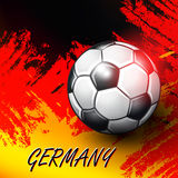 Soccer Confederation Cup 2017 background. Soccer Confederation Cup 2017 in Russia background. German flag. Vector illustration Stock Image