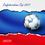 Soccer Confederation Cup 2017 background. Soccer Confederation Cup 2017 in Russia background. Vector illustration royalty free illustration