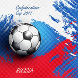 Soccer Confederation Cup 2017 background. Soccer Confederation Cup 2017 in Russia background. Vector illustration Stock Photo