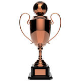Soccer Copper award trophy. Stock Photos