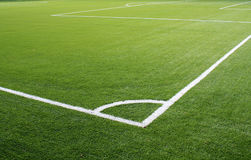 Soccer corner field lines Royalty Free Stock Image