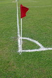 Soccer corner flag. An image of the corner flag of a soccer field stock photo