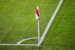 Soccer corner flag Stock Photography