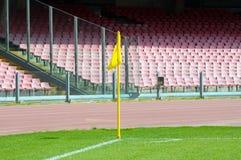 Soccer corner flag. In San Paolo stadium, Naples Stock Photo