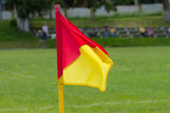 Soccer corner flag Stock Photos
