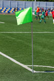 Soccer corner flag. On the stadium Royalty Free Stock Photos