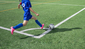 Soccer Corner Kick Stock Images