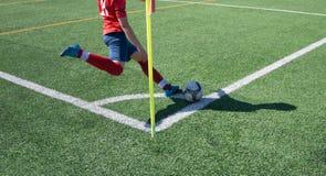 Soccer Corner Kick Stock Image