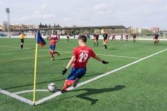 Soccer Corner Kick Royalty Free Stock Photography