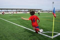 Soccer Corner Kick Royalty Free Stock Images