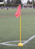 Soccer corner marker flag Stock Photo