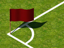 Soccer Corner Marking and Flag. Royalty Free Stock Photos