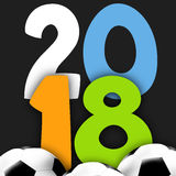 2018 soccer. Creative design graphic illustration Royalty Free Stock Image