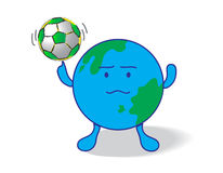 Soccer. The creative soccer vector on white background Royalty Free Stock Photos