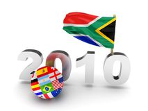 Soccer cup 2010 in South Africa. High quality 3d render Royalty Free Stock Photo